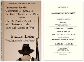 Instructions for the Government of Armies of the United States. Francis: Steve Sheppard Lieber,...