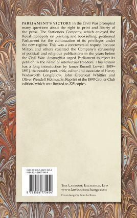 Areopagitica. A Speech of Mr. John Milton for the Liberty of...