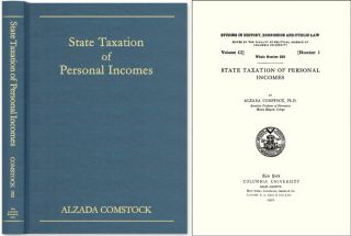 State Taxation of Personal Incomes. Alzada Comstock