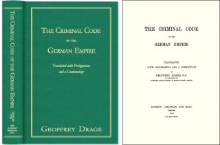 The Criminal Code of the German Empire. Geoffrey Drage