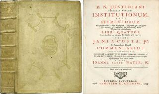 D N Justiniani Perpetui Augusti Institutionum Sive Elementorum. Justinian I., Jacques Cujas, Jean Lacoste.
