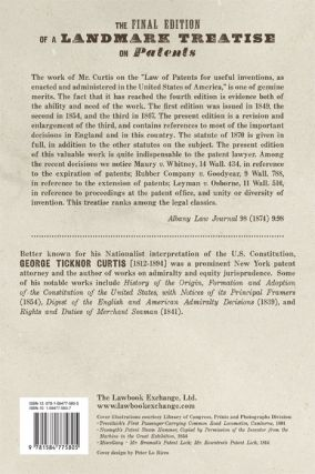 A Treatise on the Law of Patents for Useful Inventions, as Enacted...