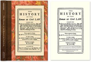 The History of the Roman or Civil Law. Shewing Its Origin and. Claude Joseph de Ferriere, New...