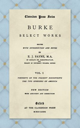 Select Works. Edited with an Introduction and Notes by E.J....