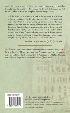 Canada's Federal System Being a Treatise on Canadian Constitutional...
