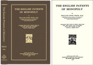 The English Patents of Monopoly. William Hyde Price