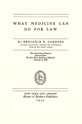 What Medicine Can Do For Law.