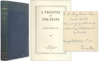 A Treatise on the State. Inscribed by the author. Leonidas Pitamic