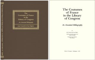 The Coutumes of France in Library of Congress: Annotated Bibliography. Jean Caswell, Ivan Sipkov.