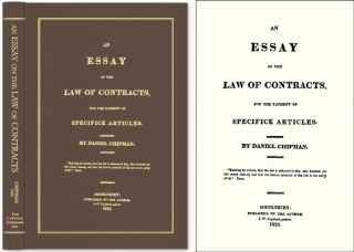 An Essay on the Law of Contracts, for the Payment of Specifick. Daniel Chipman.