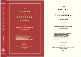 The Court of Chancery: A Satirical Poem. Reginald James Blewitt