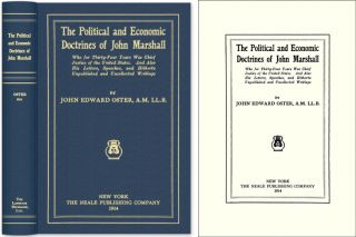 The Political and Economic Doctrines of John Marshall. John Marshall, John Edward Oster