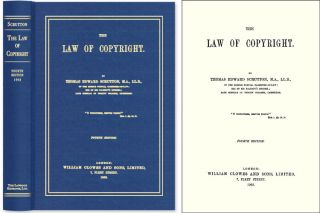 The Law of Copyright. Sir Thomas Edward Scrutton