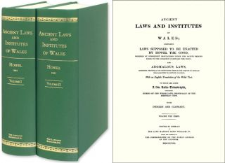 Ancient Laws and Institutes of Wales; Comprising Laws Supposed to. Welsh King. Wales Howel,...