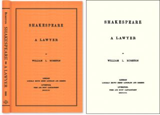 Shakespeare A Lawyer. William L. Rushton
