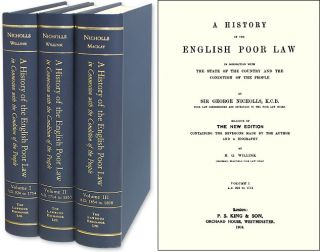 A History of the English Poor Law in Connection with the State of. Sir George Nicholls
