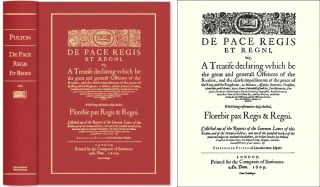 De Pace Regis et Regni Viz. A Treatise Declaring Which be the Great. Ferdinand Pulton