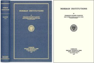 Norman Institutions. Charles Homer Haskins
