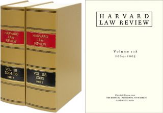 Harvard Law Review. Vol. 118 (2004-2005) Part 1-2, in 2 books