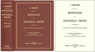 A Treatise on the Law of Monopolies and Industrial Trusts, as. Charles Fisk Beach