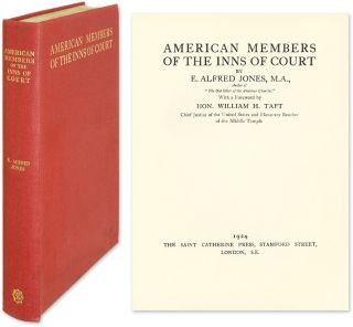 American Members of the Inns of Court. E. Alfred Jones.