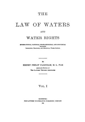 The Law of Waters and Water Rights: International, National, State...