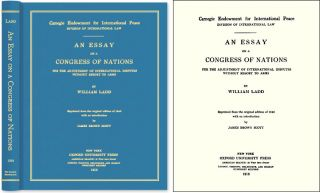An Essay on a Congress of Nations for the Adjustment International. William. Mark Weston Janis...