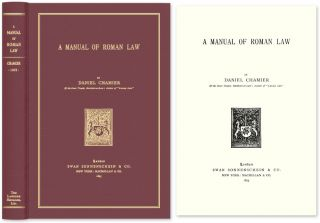 A Manual of Roman Law. Daniel Chamier