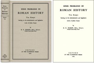 Some Problems in Roman History; Ten Essays Bearing on the. Ernest George Hardy