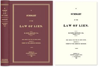A Summary of the Law of Lien. Basil Montagu