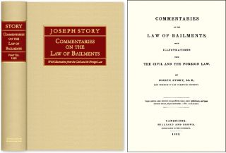 Commentaries on the Law of Bailments, With Illustrations from the. Joseph Story.