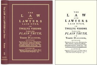 The Law and Lawyers Laid Open, in Twelve Visions. To Which is Added. J. A. Purves