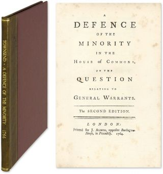 A Defence of the Minority in the House of Commons, On the Question. Charles Townsend, Attributed