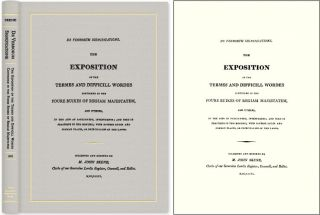 De Verborum Significatione: The Exposition of the Termes and. John Skene