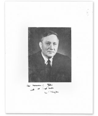 Inscribed Portrait Photograph of William O. Douglas. William O. Douglas