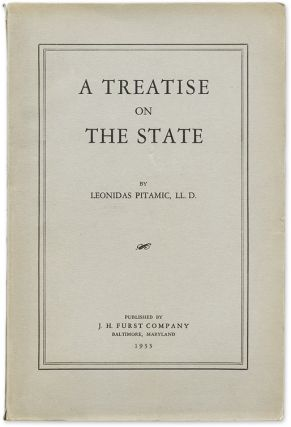 A Treatise on the State. From the Library of Edward Dumbauld. Leonidas Pitamic