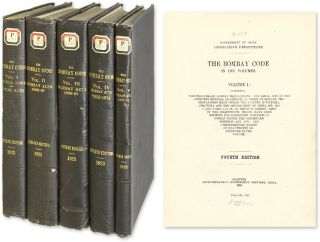 The Bombay Code: In Five Volumes. Legislative Department Government of India.