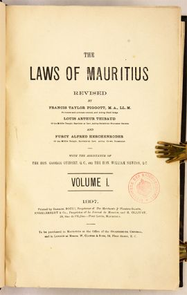 The Laws of Mauritius Revised. 3 Vols. 1896-1897.