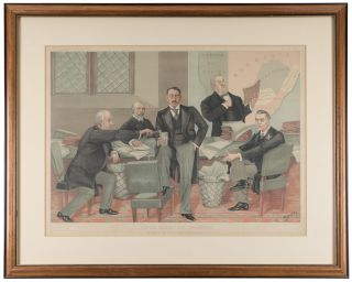 Empire Makers and Breakers: A Scene at the South Africa Committee. Stuff, Henry Charles...