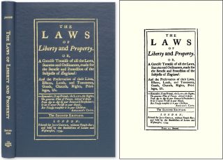 The Laws of Liberty and Property. Or, A Concise Treatise of All the. Giles Jacob
