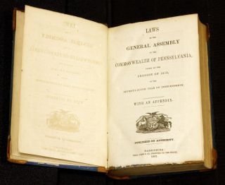 Laws of the General Assembly...Commonwealth Pennsylvania...1840-1971