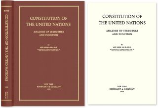 Constitution of the United Nations: Analysis of Structure and Function. Alf Ross