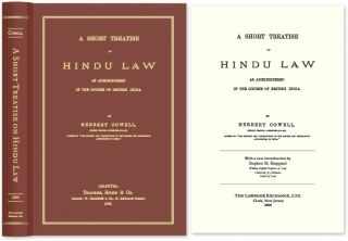 A Short Treatise on Hindu Law. Herbert Cowell, Steve Sheppard, new intro