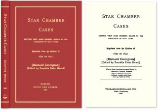 Star Chamber Cases: Showing What Cases Properly Belong to the. Crompton, Thomas G. Barnes, new...