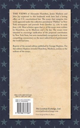 The Federalist, On the New Constitution:... 2d ed. 2 vols. 1802...