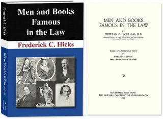Men and Books Famous in the Law. (New Paperback) ed. Frederick C. Hicks