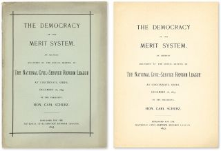 The Democracy of the Merit System. Carl Schurz.