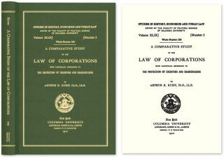 A Comparative Study of the Law of Corporations with Particular. Arthur K. Kuhn.