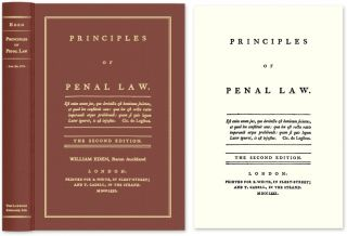 Principles of Penal Law. The Second edition. William Eden