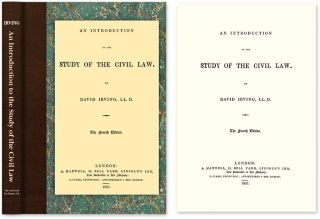 An Introduction to the Study of the Civil Law. David Irving